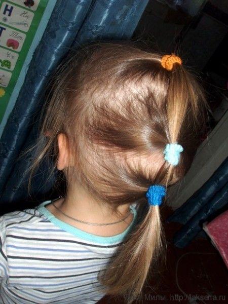 прически хвостики для девочек гребешок из трех хвостиков