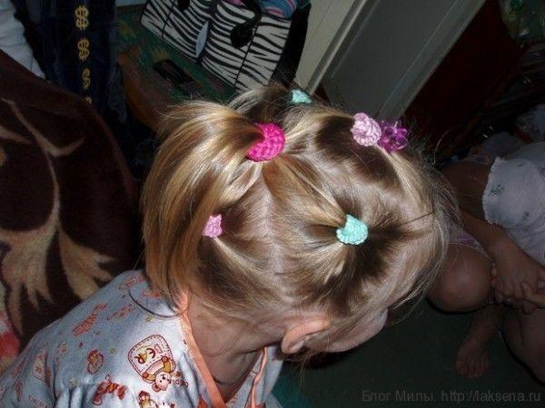 прически хвостики для девочек цветок из хвостиков