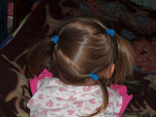 прически хвостики для девочек хвостики на косой пробор