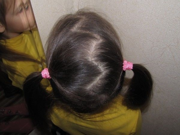 прически хвостики для девочек с зигзаг пробором
