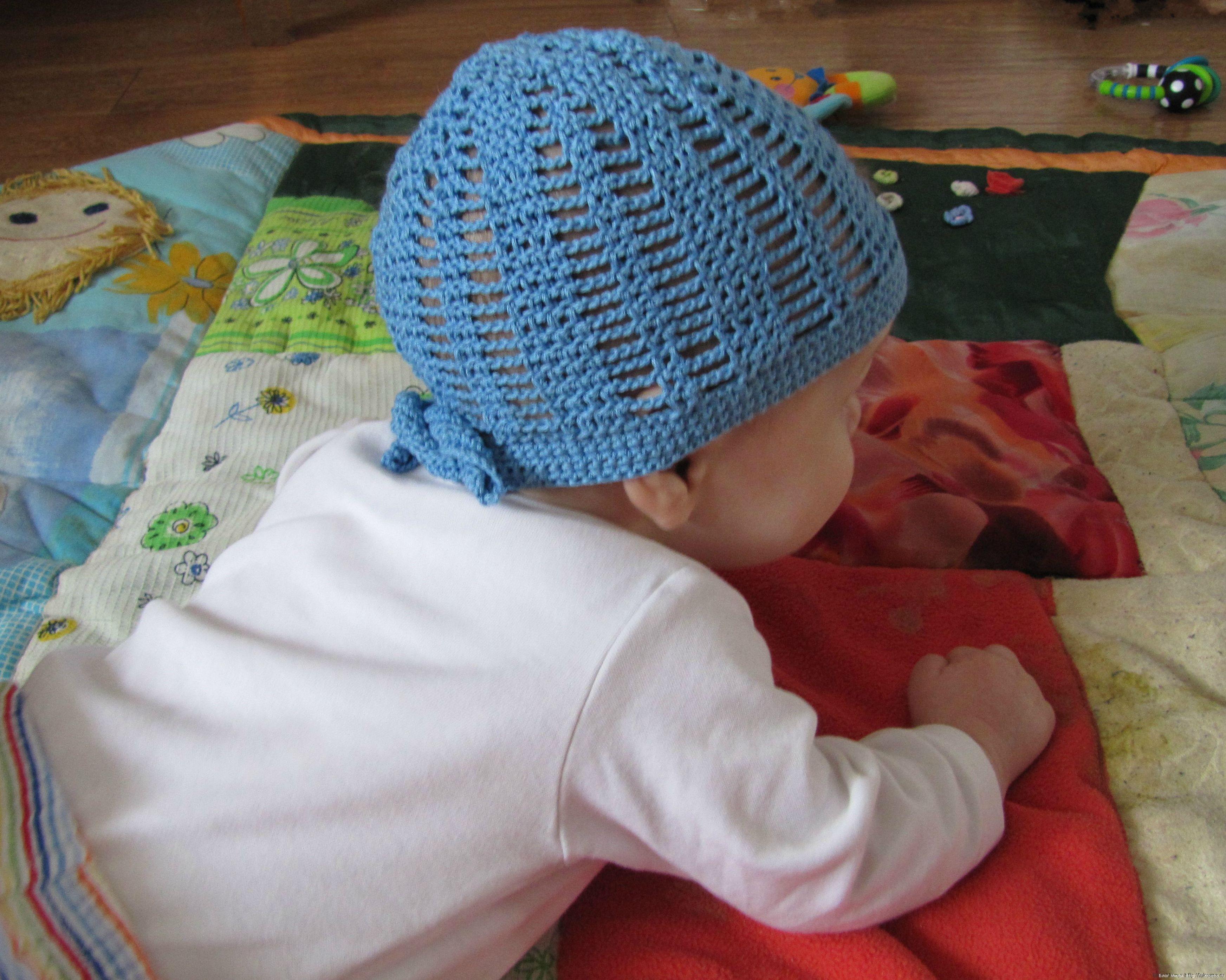 летняя вязаная шапочка для мальчика маленький пират блог милы