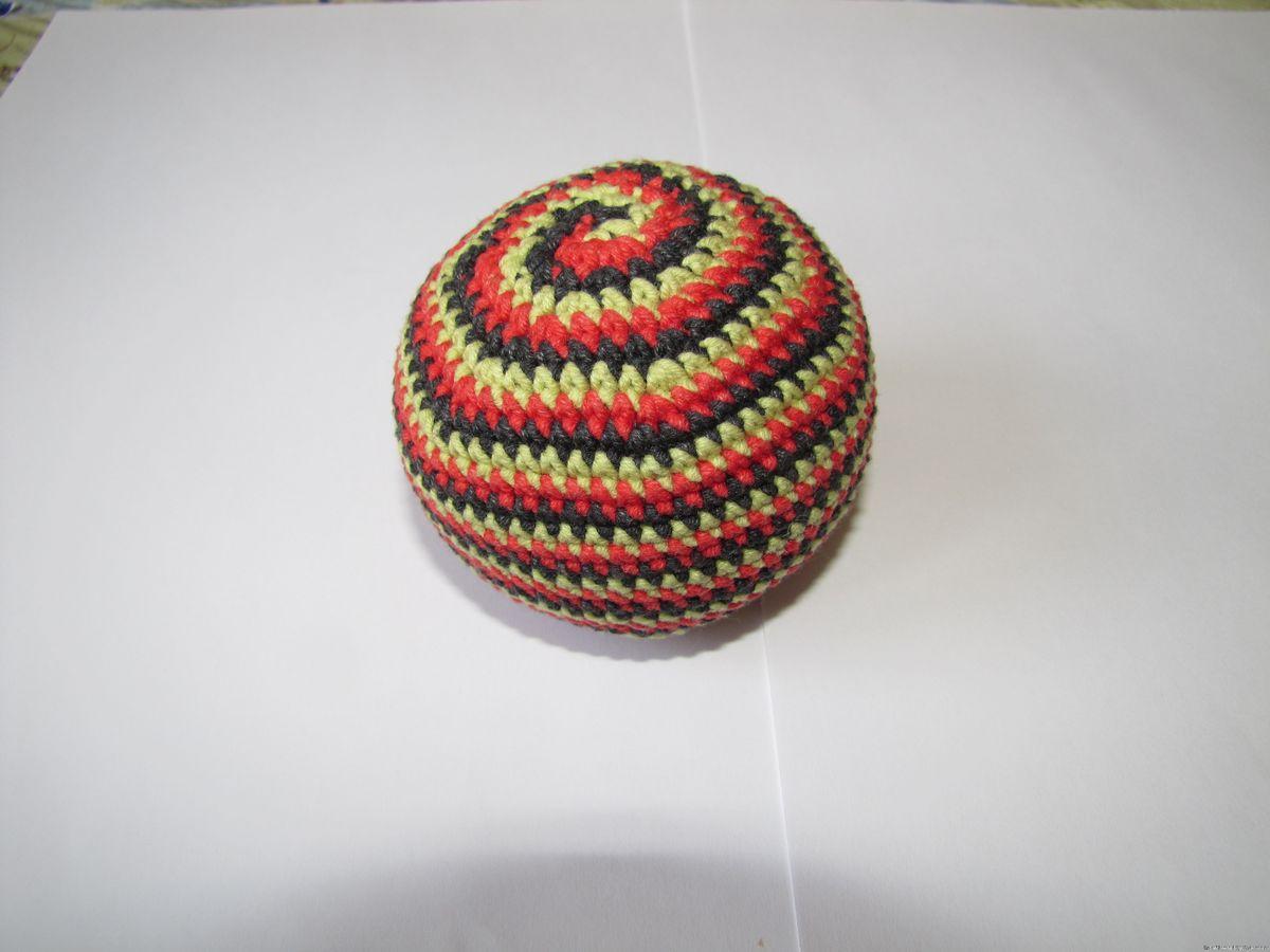 Вязаный мячик крючком и спицами. Схемы