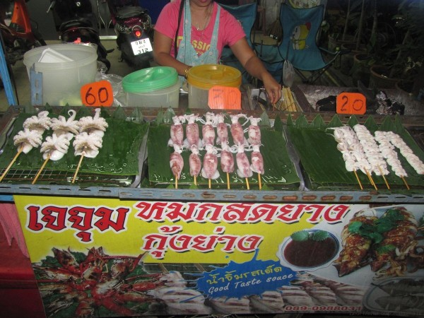 осьминог кальмар блюда из рыбы и морепродуктов в таиланде