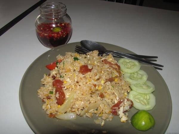 Рис с тайской сосиской