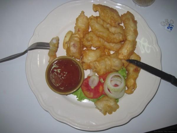 блюда из рыбы и морепродуктов в таиланде кальмары в кляре