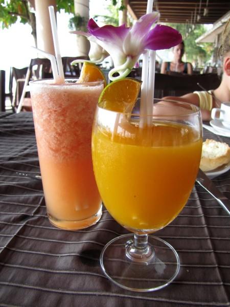 напитки таиланда фруктовый шейк