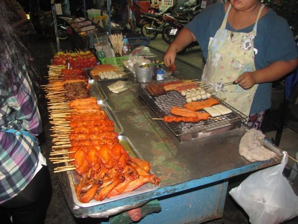 Шашлычки мясо в тайской кухне