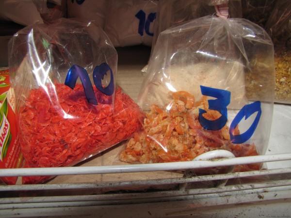 сушеные креветки блюда из рыбы и морепродуктов в таиланде