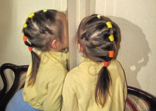 прически хвостики для девочек