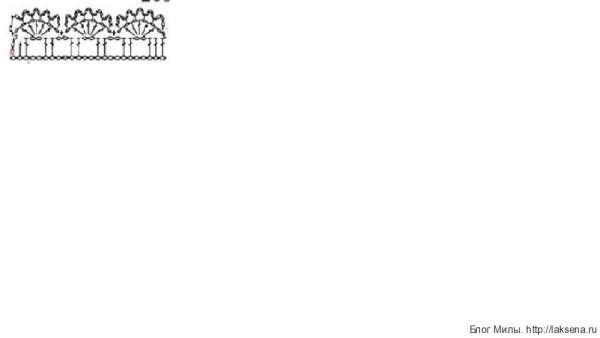 Голубой топик крючком на девочку веерочками схема оборки схема бретели