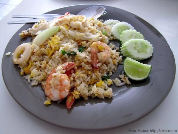 блюда из рыбы и морепродуктов в таиланде fried rice seafood