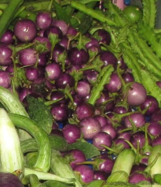 гороховый баклажан овощи тайской кухни