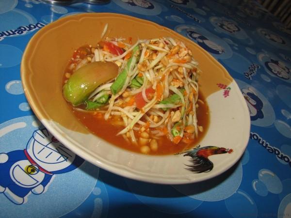 салат сом там с длинной китайской фасолью