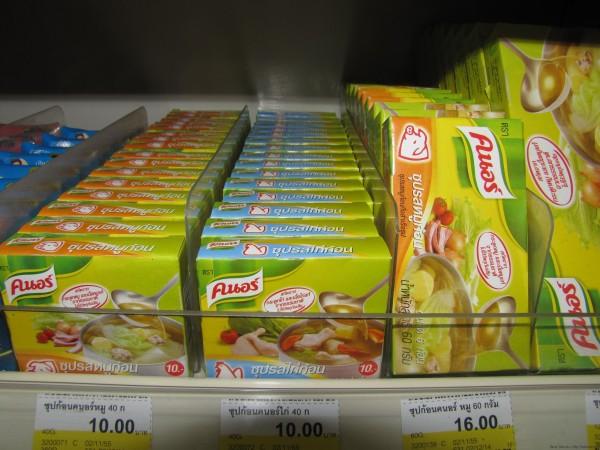Бульонные кубики Knorr на тайском