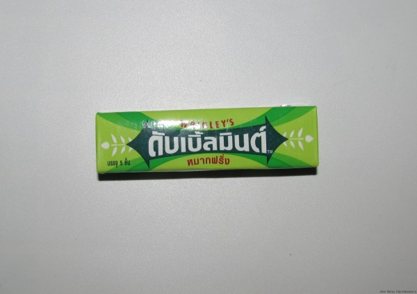 Жевательная резинка Doublemint на тайском