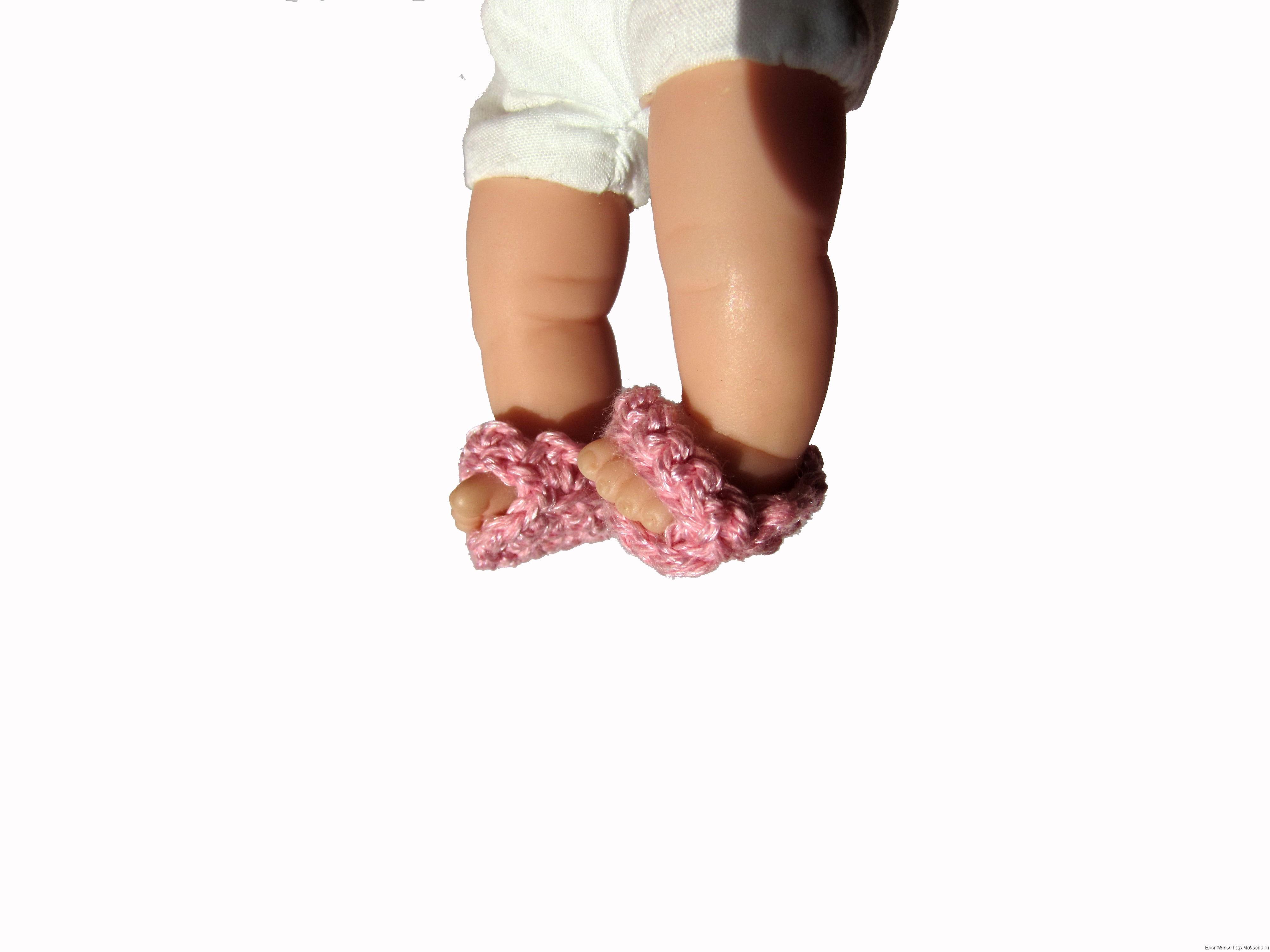 Туфли для куклы крючком