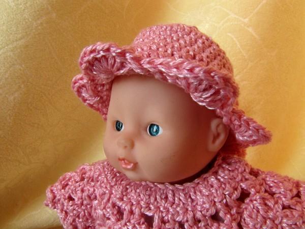 Шляпа для куклы крючком