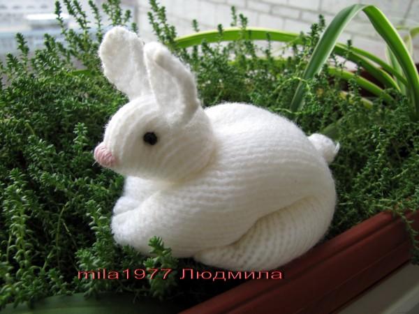 Заяц из квадрата спицами