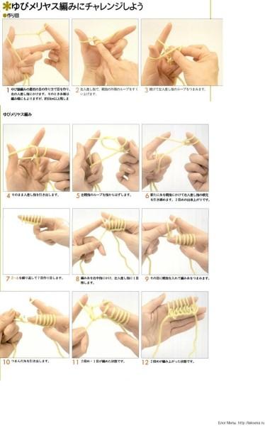 Технология вязания на пальцах как на спицах