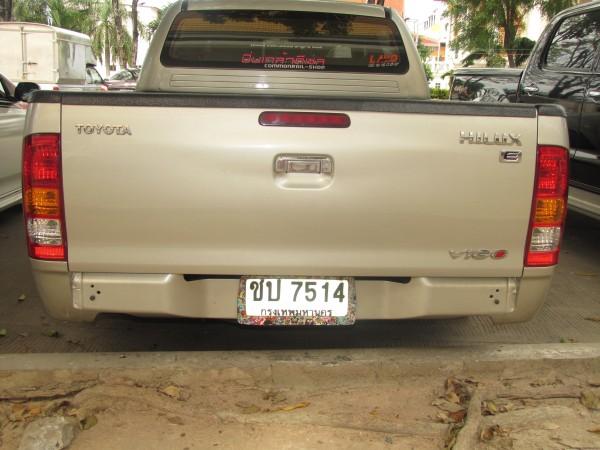 номера машин в Таиланде с красивой рамкой