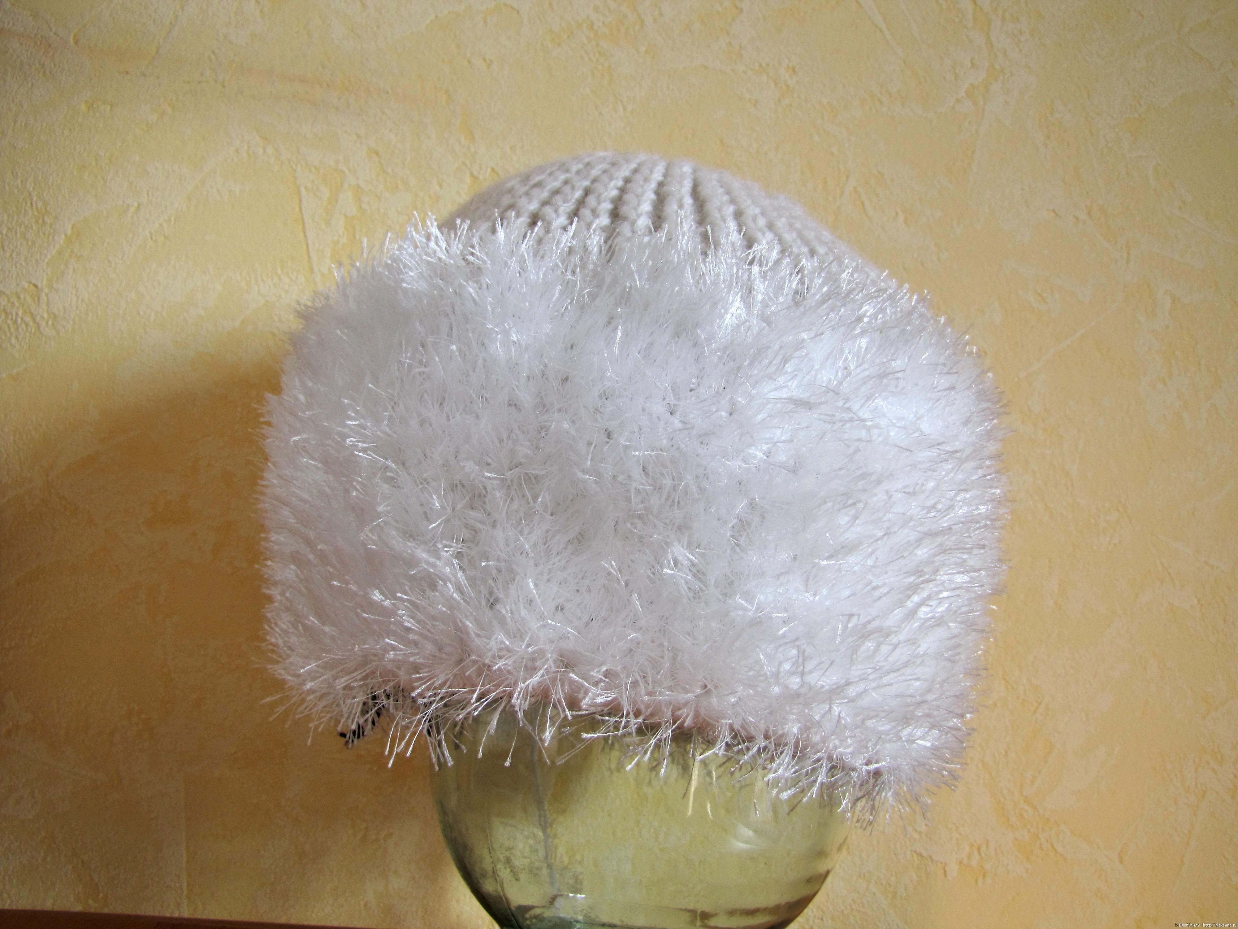 шапки вязанные из травки с описанием - 5