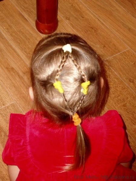 простые косички на короткие волосы девочкам на каждый день