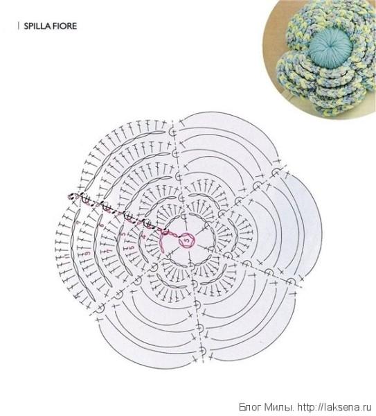 кружевные перчатки без пальцев объемный цветок схема