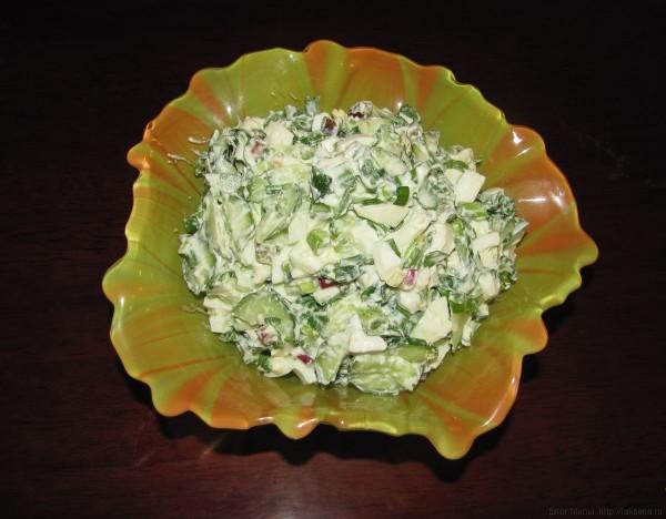 Салат из черемши с огурцом и яйцами черемша рецепты