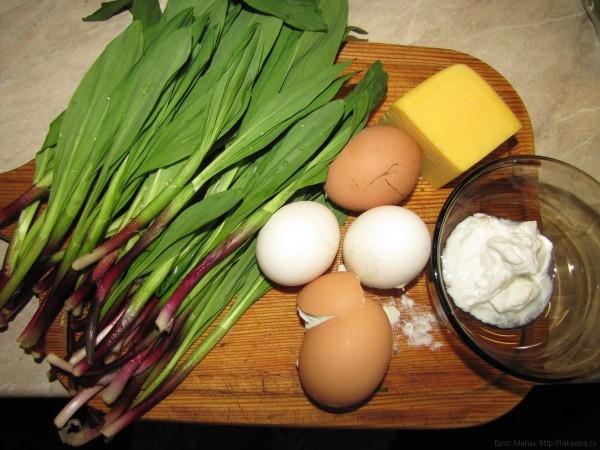 Салат из черемши с яйцом и сыром черемша рецепты
