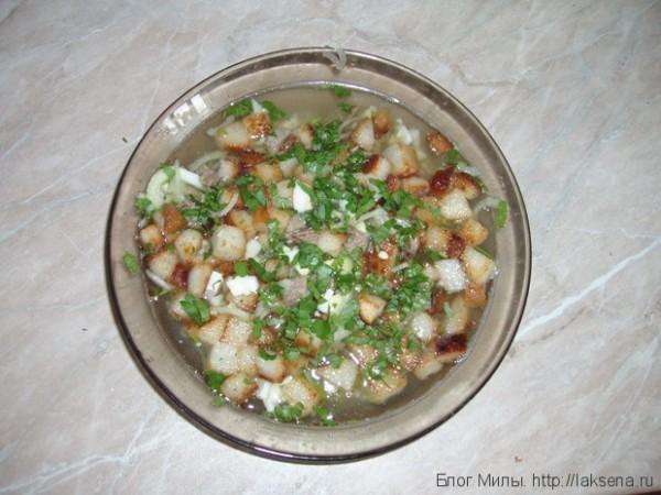 Суп с гренками рецепт с фото