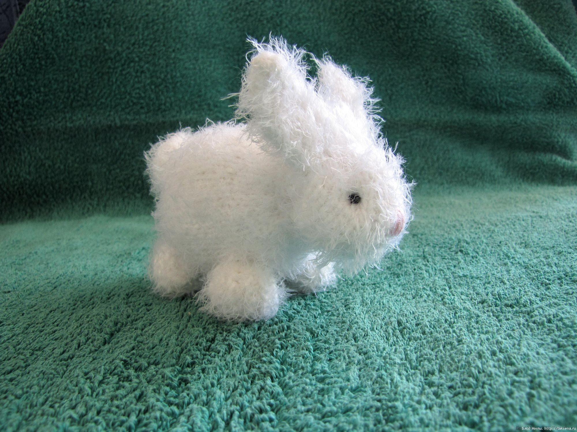 вязаный заяц из квадрата еще один блог милы