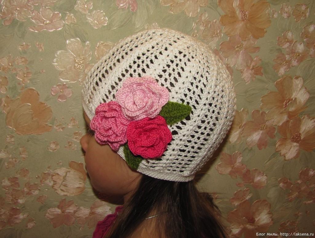 Летняя шапочка крючком фото