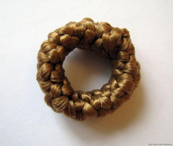 резинка для волос из волос искусственных