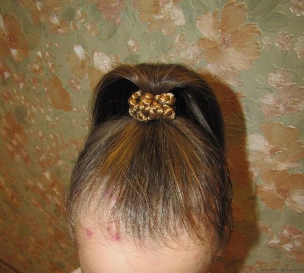 резинка для волос из волос искуственных