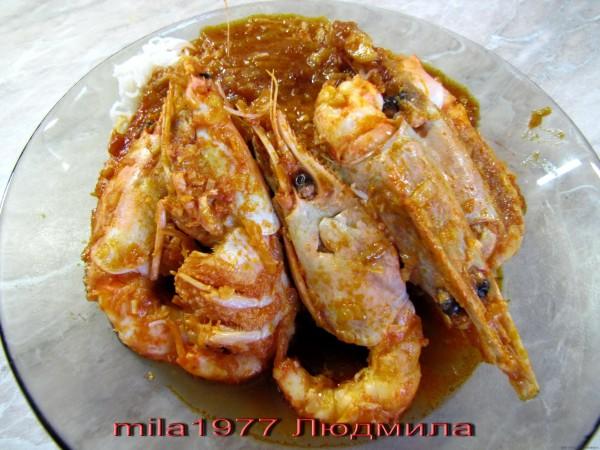 Креветки в красном соусе рецепт