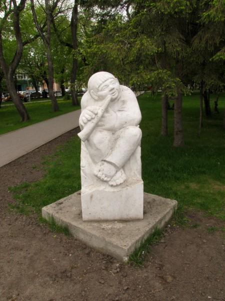 памятники первомайский сквер новосибирск пастушок