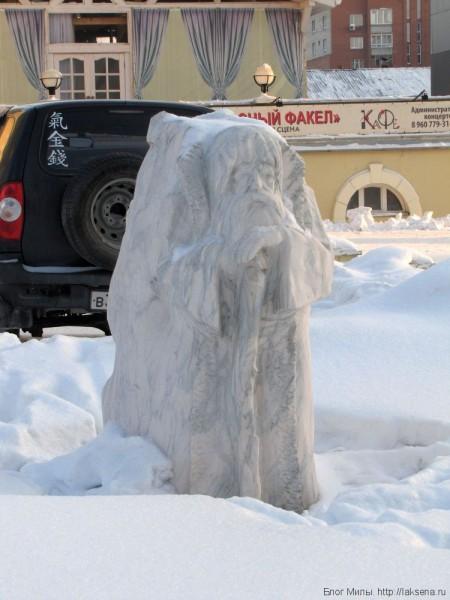 каменные скульптуры новосибирска сибирский оборотень дед-медведь