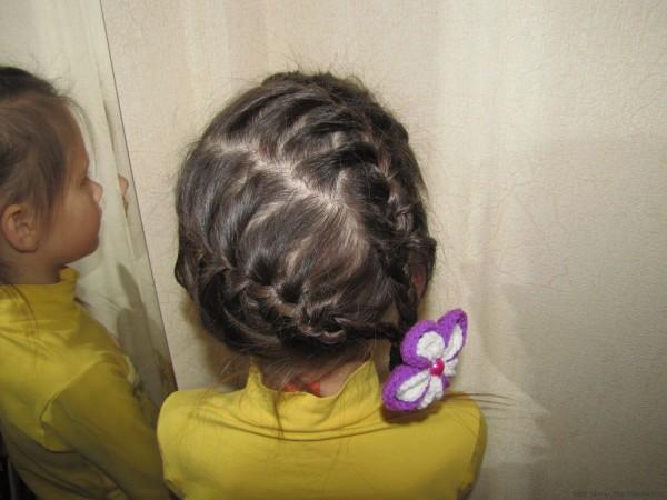 две косички две французских косы по косой