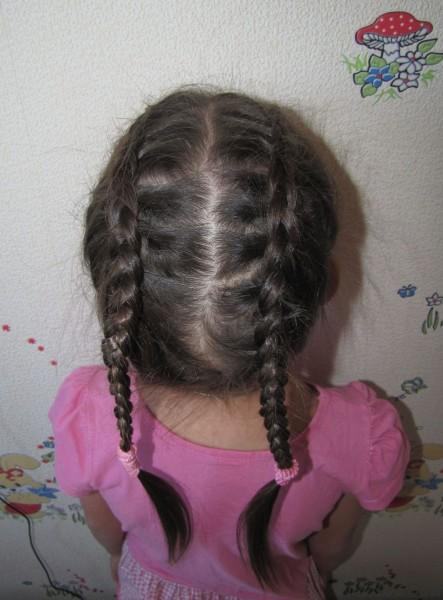 две косички две французских косы наоборот