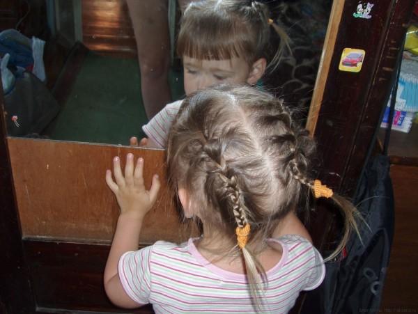 две косички две французских косы