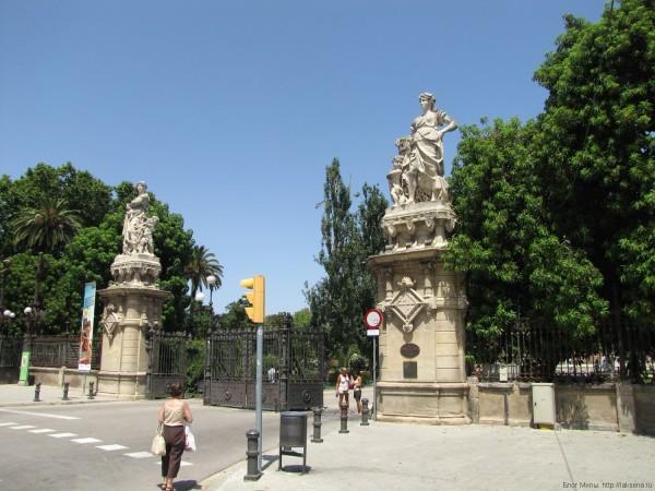 ворота в парк цитадели барселона