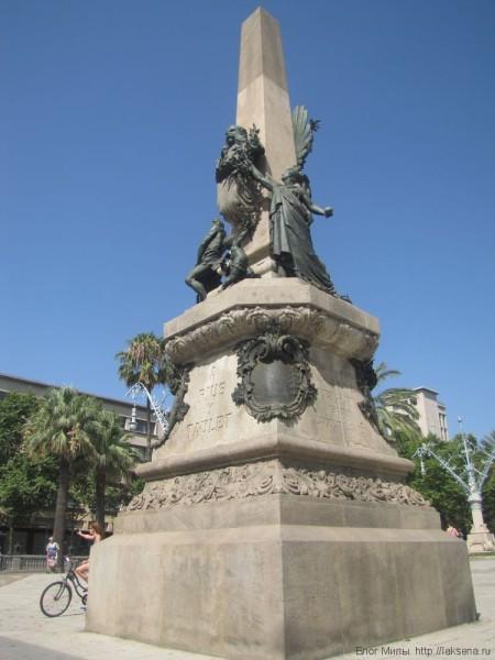 парк цитадели в барселоне памятник мэру Rius i Taulet