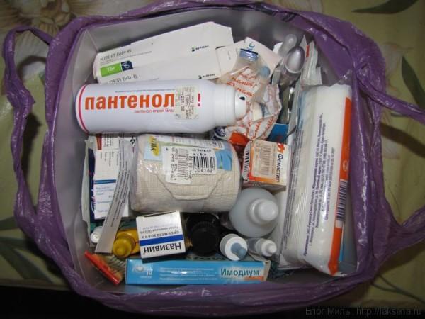 список лекарств в дорогу