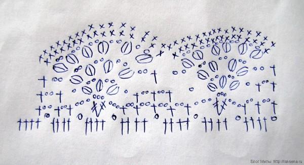 Летняя вязаная шапочка крючком на девочку схема вееров