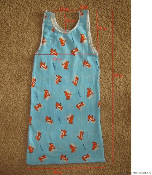 детская ночная рубашка выкройка