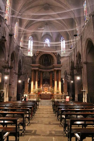 церковь Сан Жуст и Пастор (Església des Sants Just i Pastor). готический квартал в барселоне