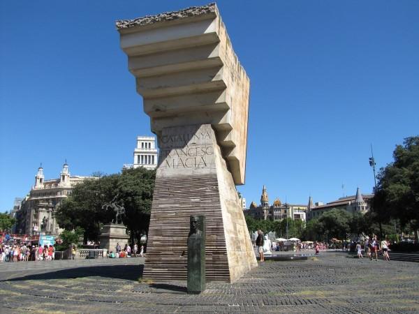 площадь каталонии в барселоне монумент Франческу Масия