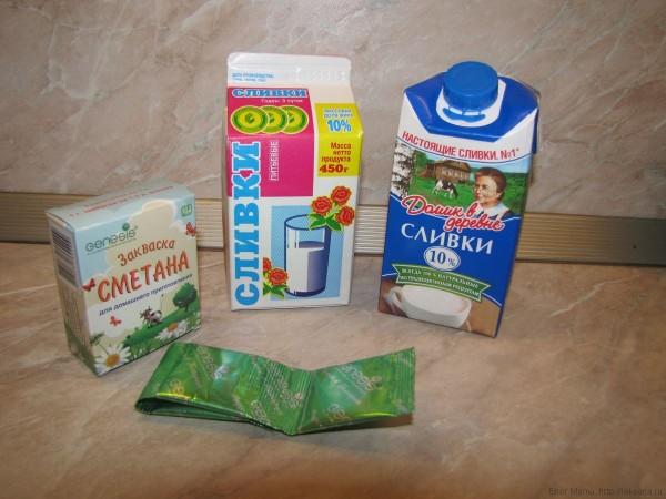приготовление сметаны в домашних условиях из сливок и закваски