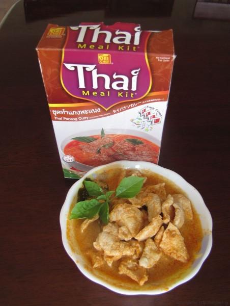 тайская еда в коробочках пананг карри