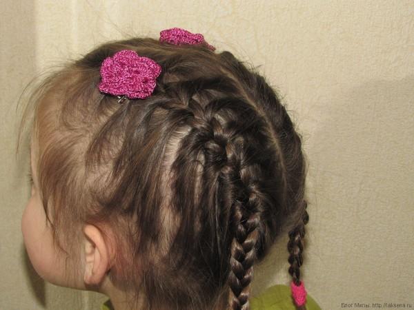 "вязаная заколка для волос крючком ""Роза"""